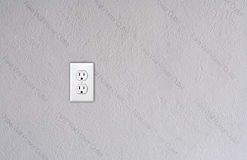 2 stks nep muur stopcontact, stopcontact, Joke, Prank Gift idee Vinyl Sticker