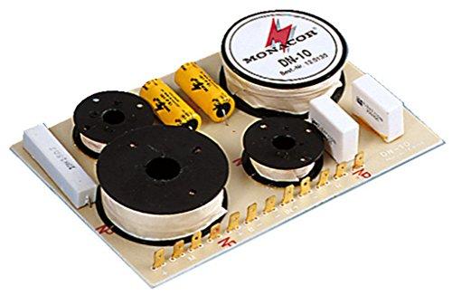 MONACOR DN-10 3-Wege-Weiche 8 ohm, Hochwertige Bauteile, Folien-Kondensator im Hochpass, Belastbarkeit 100W für den Innenbereich