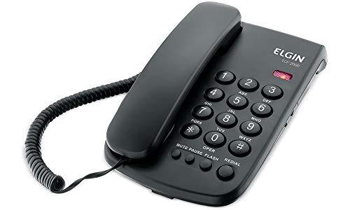 Telefone com Fio de Mesa Elgin TCF2000 Preto, Elgin, TCF2000P, Preto
