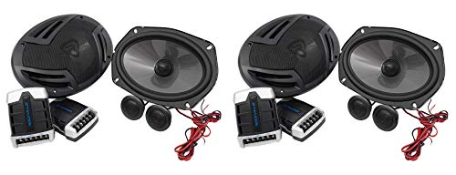 "(2) Pairs Rockville RV69.2C 6x9"" Component Car Speakers 2000w/440w RMS CEA Rated"