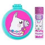 3C4G Llama Folding Brush & Mirror with Bonus Lip Balm Set