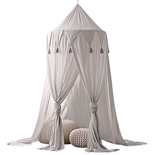 Betthimmel für Kinder Baby Baldachin, Dreieck Quaste Chiffon Zelt, Baby Fotografie Prop Krippe Moskitonetz Traumzelt, hängende Moskitonnetz für Schlafzimmer Dekoration für Bett und Schlafzimmer