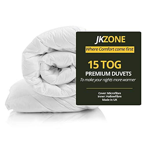 15tog Sweet dream Anti Allergy Hollow Fibre Winter Warm Duvet Quilt Hotel Quality Duvet (Single)