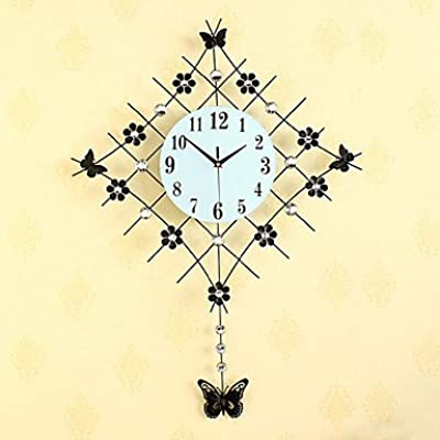 Modern Style Fashion Creative Diamond Pendulum with Iron Mute Wall Clock,Gold
