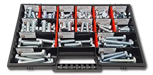 Sechskantschrauben Sortiment M8 - M10 // 10mm-50mm 110 tlg. Schraubenbox DIN 933 ISO 4017