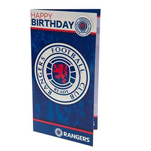 Rangers F.C. Birthday Card and Badge
