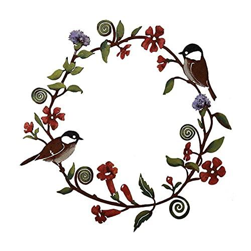Sunmery Corona de flores y guirnaldas decorativas para la puerta de la casa, cocina, porche, pájaro, decoración de vacaciones, festival, colgante, decoración de pared