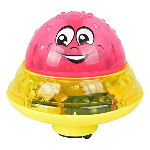 Ohyoulive Electric Induction Spray Ball Light Bathroom Infant Kids Water Bath Play Toy
