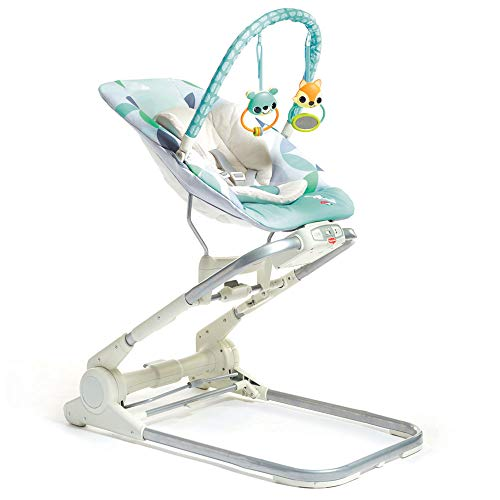 Tiny Love 3-in-1 Close to me Bouncer (interaktive Babyschaukel, Liegesitz und Hochstuhl in einem, inklusive Spielbogen, Vibration und Musik) mehrfarbig