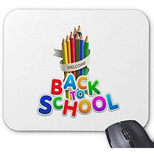 Mousepad potlood met citaat terug naar school afdrukken muismat