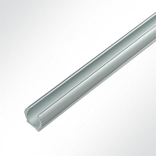 LYSEL® Kederschiene 13x11,72mm eloxiert 2m Grau Ø10mm für Keder 6-9mm