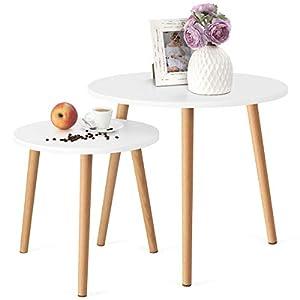 STILE: l'abbinamento del legno con il piano laccato bianco crea una straordinaria coppia di tavolini da salotto e soggiorno. Semplicità e minimalismo in questo elegante set di tavolini che si integreranno alla perfezione con l'arredo del tuo salotto....