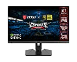 MSI Optix MAG274QRF - Monitor gaming de 27' LED WQHD 165Hz (2560 x 1440p, ratio 16:9, Panel IPS, 1 ms respuesta, brillo 300 nits, Anti-glare) negro
