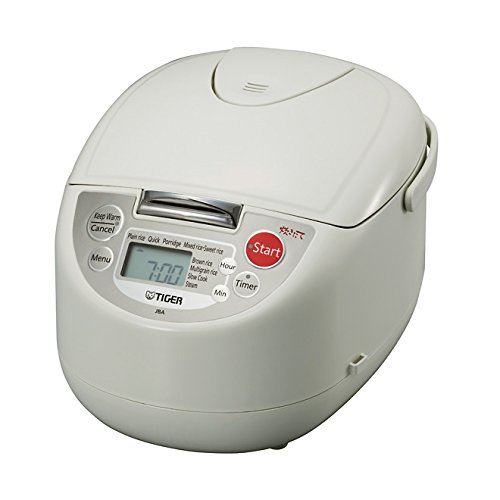 Tiger Corporation JBA-A10U-WL 5.5-Cup Micom Slow Rice Cooker and Food Steamer – White