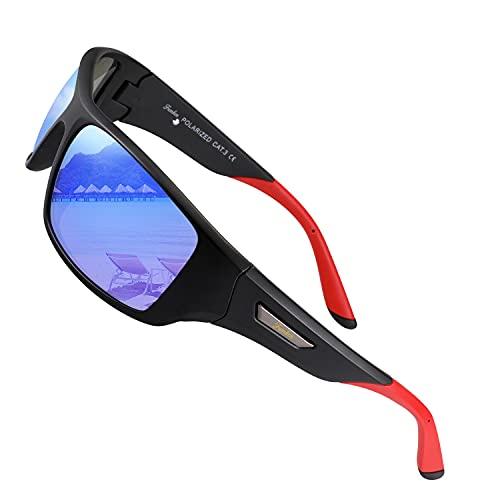 FUMKEN Occhiali da sole sportivi polarizzati per uomo Donna in Guida Bicicletta Climbing anti-glare UV400 Protezione TR90 Frame unbreakable