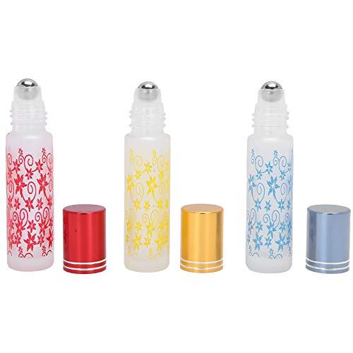 Botellas de aceite esencial, botellas enrollables Vidrio antifugas para aceite de aromaterapia para salón de perfumería