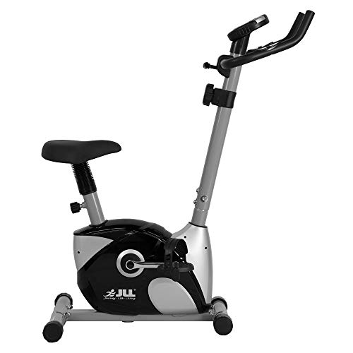 JLL® Home Exercise Bike JF100, 2017 New Magnetic resistance exercise bike fitness Cardio workout with adjustable resistance, 4KG two ways fly wheel, console display with heart rate sensor,