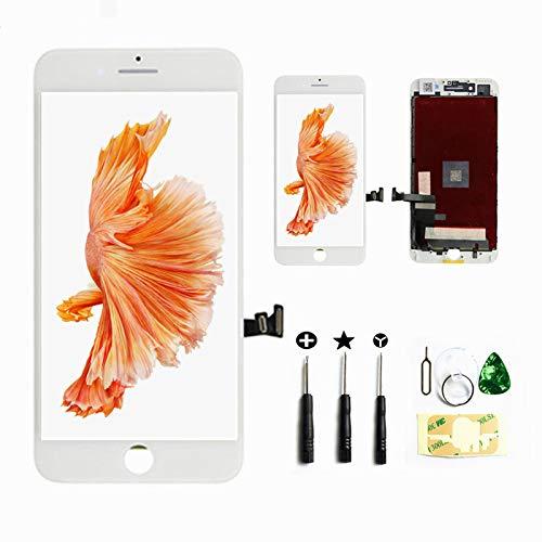 SZRSTH iphone7 液晶 白 ガラスデジタイザ パネル タッチパネル 画面交換用 修理工具セットフロントパネル 4.7インチ