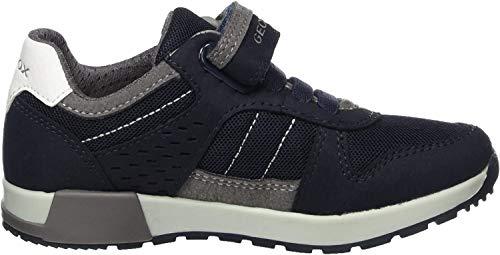 Geox Jungen J ALFIER Boy A Sneaker, Blau (Navy/Grey), 33 EU