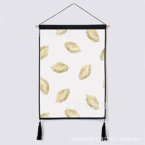 liuweixiong Scandinavische wandtapijt tropische planten geometrische meeuw wanddecoratie wandhangers wandtapijt huis slaapzaal slaapkamer woonkamer schilderijen 45 * 65CM 7