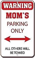 ヴィンテージの外観複製ブリキ看板インチ警告ママの駐車場のみ牽引されます家の装飾用のノベルティメタル看板男性女性洞窟用ティンサイン