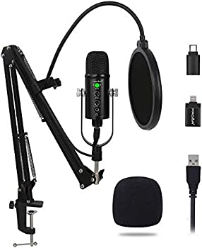 Proar USB Condenser Microphone with Headphone Monitoring