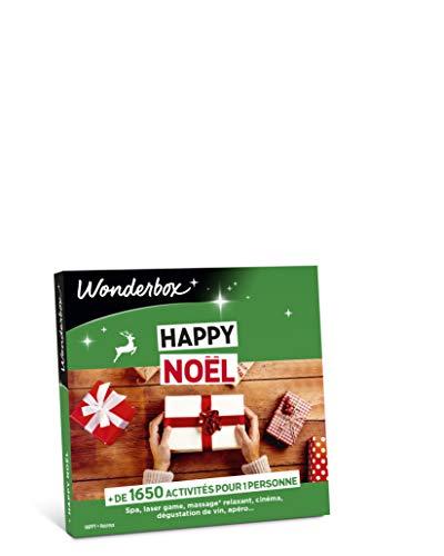 Wonderbox - Coffret cadeau noël - HAPPY NOEL - + de 3900 activités: massage californien, repas gourmand, simulateur de conduite, dégustation de vin, caviar.