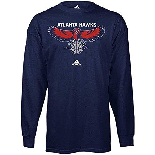 adidas Atlanta Hawks Navy Primary Logo Long Sleeve T-shirt Small