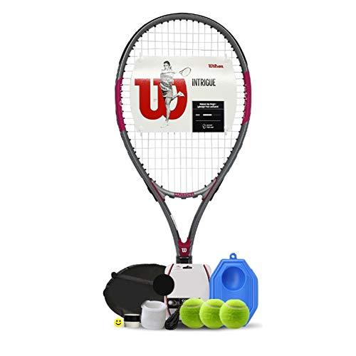 Raquetas Tenis Individuales Principiantes para Hombres Y Mujeres Doble Individual con Entrenador De Cuerdas Tenis Profesionales De Fibra De Carbono