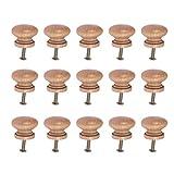 SUPVOX - Pomos de madera para muebles, tiradores para cajones, tiradores con tornillo para decoración de hotel, restaurante, cafetería (15 unidades), YHR17FEPOQBLCLZ83232ZY7