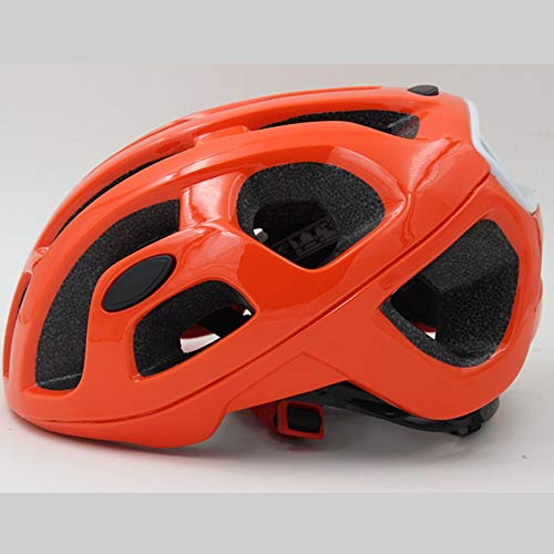 U/D Casco de Ciclista del Casco de Ciclista Hombres y Mujeres Transpirable Casco de Moda (Color : Naranja)