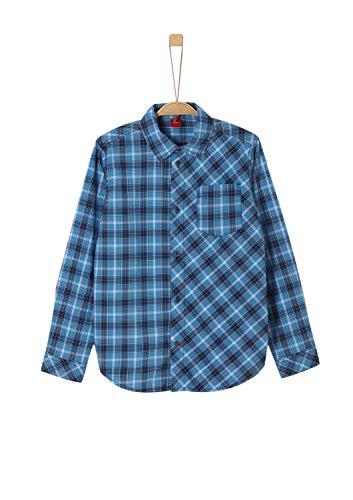 s.Oliver Jungen 61.909.21.4297 Hemd, Blau (Stratosblau Check 59n1), 176 (Herstellergröße: XL/REG)