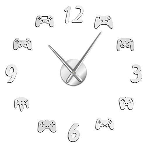 Controlador de juegos de vídeo DIY, reloj de pared gigante, Joystick de...