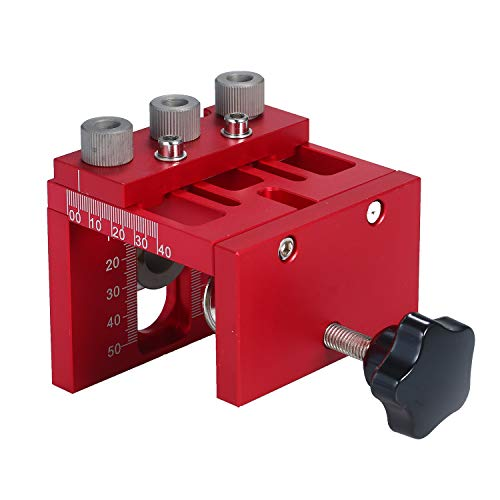 3 in 1 Woodworking Drilling Guide Dowel Hole Drilling Guide Jig Drill Locator Kit Carpentry Positioner Tools with Drilling Bits
