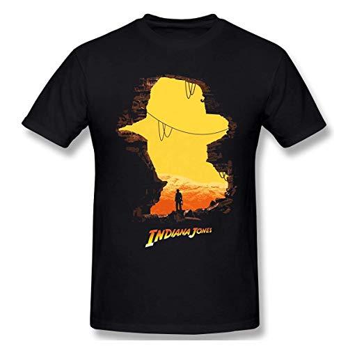 Cool Indiana Jones Men's Short-Sleeved Standard T-Shirt Black,T-Shirts & Hemden(Large)