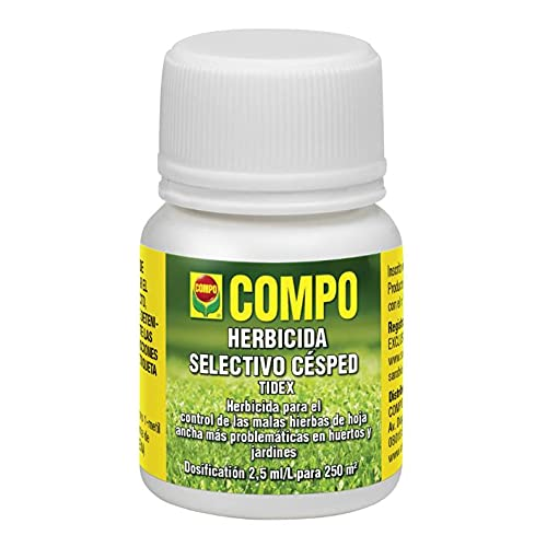 Compo Herbicida Selectivo para Césped Tidex 25 ml - Dosis para 1 mochila de 15 L