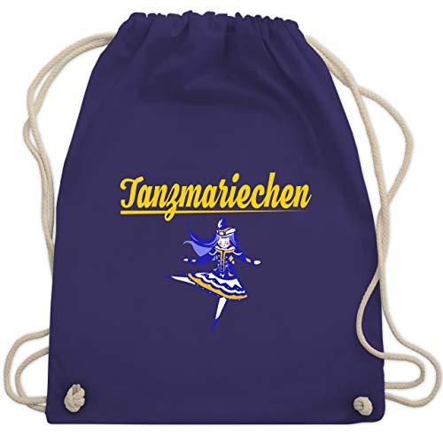Shirtracer Karneval & Fasching - Tanzmariechen blau - Unisize - Lila - turnbeutel fasching - WM110 - Turnbeutel und Stoffbeutel aus Baumwolle