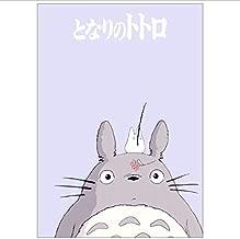 BOENTA Poster Papier Kraft Rectangle Vintage Hayao Miyazaki S/érie Spiritu/é Bande Dessin/ée Film Affiche D/écoratif Affiche Imprimer Image 51.5 36 Cm 02