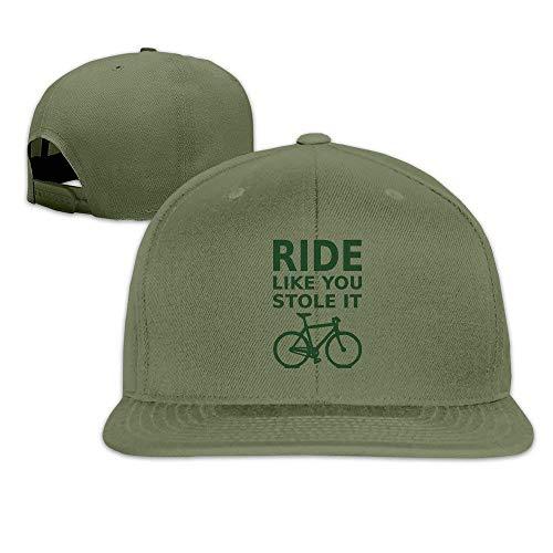 dingjiakemao Fun Ride zoals je het hebt gestolen - Fiets Katoen Platte Snapback Baseball Caps Verstelbare Mesh Hoed Baseball Hoeden Wit