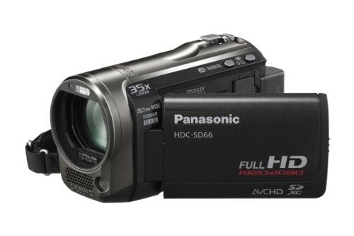 Panasonic HDC-SD66EG-K HD Camcorder (SD-Kartenslot, 25-fach optischer Zoom, 6.9 cm Display, Bildstabilisator, mini-HDMI, USB 2.0) schwarz