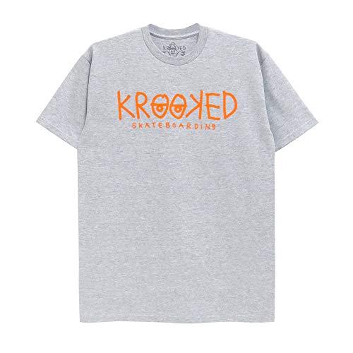 KROOKED T-SHIRT クルキッド Tシャツ KROOKED EYES スケートボード スケボー SKATEBOARD グレー,XL