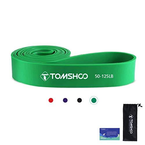 TOMSHOO+ Bandas de Resistencia Elástica, Cuerdas Elásticas de Fitness, Banda de Resistencia de Látex para Yoga, Pilates, Entrenamiento de Fuerza Muscular
