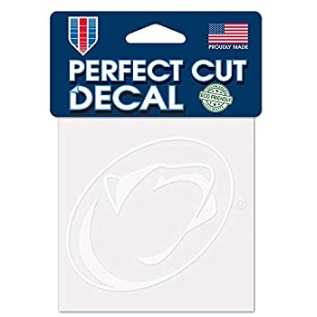 WinCraft NCAA Penn State Nittany Lions 4x4 Perfect Cut White Decal One Size Team Color
