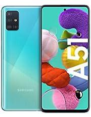 Samsung Galaxy A51 Android Smartphone ohne Vertrag, 4 Kameras, 6,5 Zoll Super AMOLED Display, 128 GB/4 GB RAM, Dual SIM, Handy in blau, deutsche Version