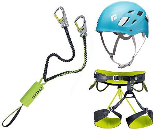 Klettersteigset Edelrid Cable Kit Lite 5.0 + Klettergurt Camp Größe L + Helm Black Diamond Half Dome Women Größe 50-58cm Caspian