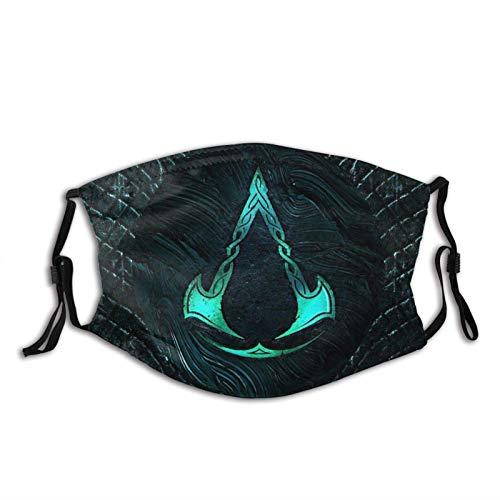 KINGAM Assassins Creed Valhalla - Polaina transpirable para el cuello de la cara, máscara de polvo, resistente al viento, transpirable, pesca, senderismo, correr, ciclismo