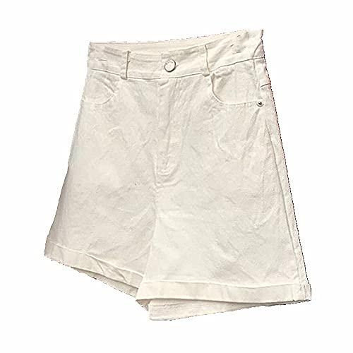 N\P Pantalones cortos casuales delgados de cintura alta de las mujeres de la pierna ancha