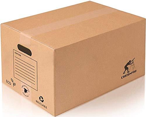 Pack 10 Cajas Carton Mudanza Grandes 500x300x300 - Cajas Car