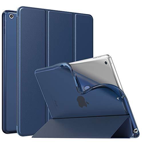 MoKo Dünne TPU Hülle für Neu iPad 10.2 2019, Smart Case Schutzhülle mit weicher Transluzent Rückseite Backcover Auto Schlaf/Wach Funktion für iPad 7. Gen 10.2
