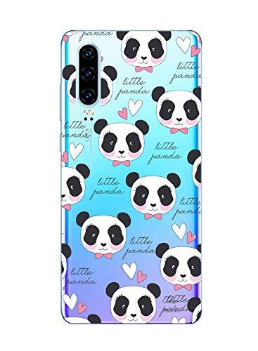 Suhctup Funda Compatible para Samsung Galaxy S10,Carcasa Transparente Dibujos Animal Suave Silicona TPU Gel Bumper Ultra Pulgada Antigolpes Crystal Clear Protector Piel Case Cover,Panda 8